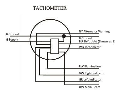Tacho Wires tacho oil pressure light lotus seven club tachometer wiring diagram at webbmarketing.co
