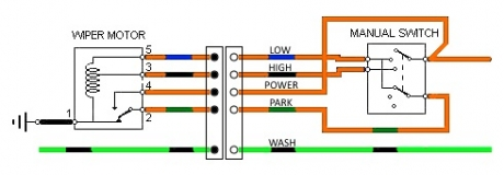 5 Wire Wiper Motor Wiring Diagram from www.lotus7.club