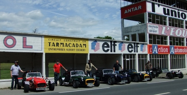 Some of our members at Reims en route (that is yer actual French) to Italy in 2013.